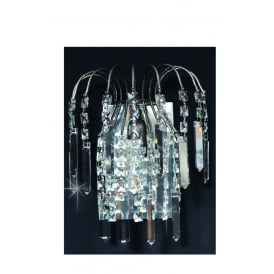 Shower Coffin Crystal Strass Wall Light In Antique Nickel Finish ST01700/WB/AN