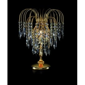 Shower Crystal Waterfall Table Lamp In Gold Finish ST01900/TL/G
