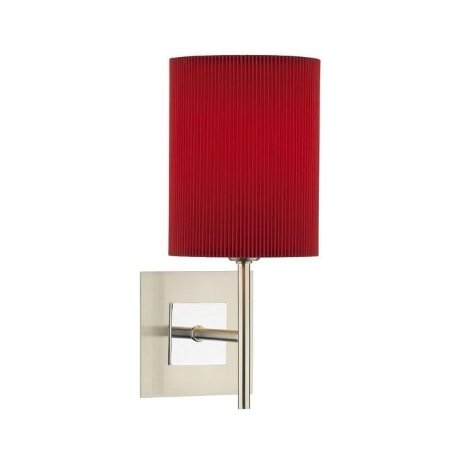 SIC0746/S1069 Sicily 1 Light Wall Lamp With Red Shade
