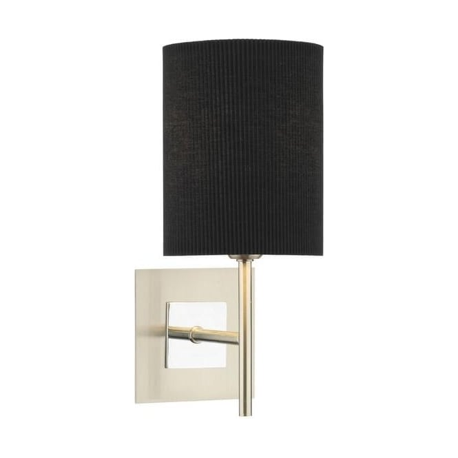 SIC0746/S1070 Sicily 1 Light Wall Lamp With Black Shade