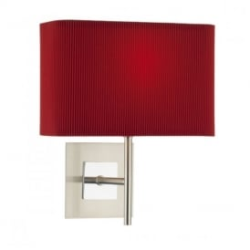 SIC0746/S1076 Sicily 1 Light Wall Lamp With Red Shade