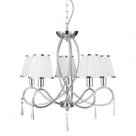 Simplicity Classic 5 Light Ceiling Pendant Light in Chrome Finish 1035-5CC