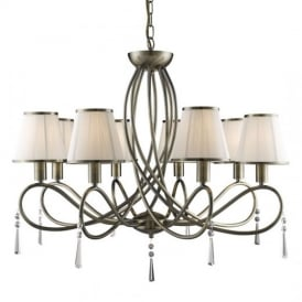 Simplicity Classic 8 Light Ceiling Pendant Light in Antique Brass Finish 1508-8SS