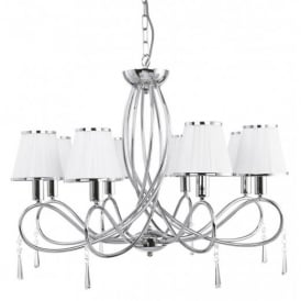 Simplicity Classic 8 Light Ceiling Pendant Light in Chrome Finish 1038-8CC