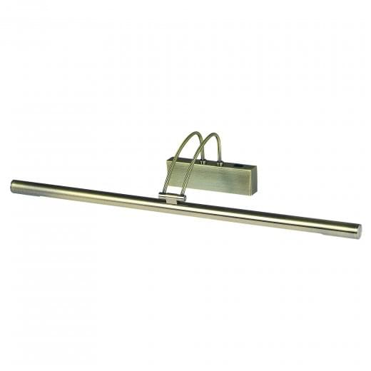 Slimline Contemporary Low Energy switched Picture Light Antique Brass