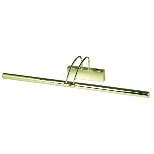 Slimline Contemporary Low Energy switched Picture Light Polished Brass