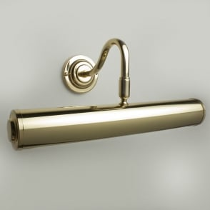 "Sloane 12"" Polished Brass Finish Swan Neck Picture Light"