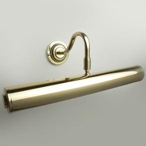 "Sloane 14"" Polished Brass Finish Swan Neck Picture Light"