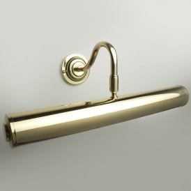 "Sloane 14"" Polished Brass Finish Swan Neck Picture Light"