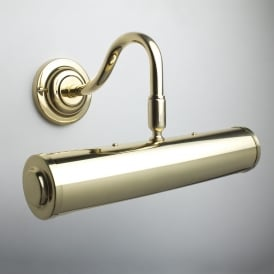"Sloane 9"" Polished Brass Finish Swan Neck Picture Light"