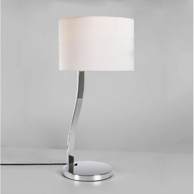 Astro Lighting Sofia Polished Chrome Table Lamp with White Shade 4557 + 4093