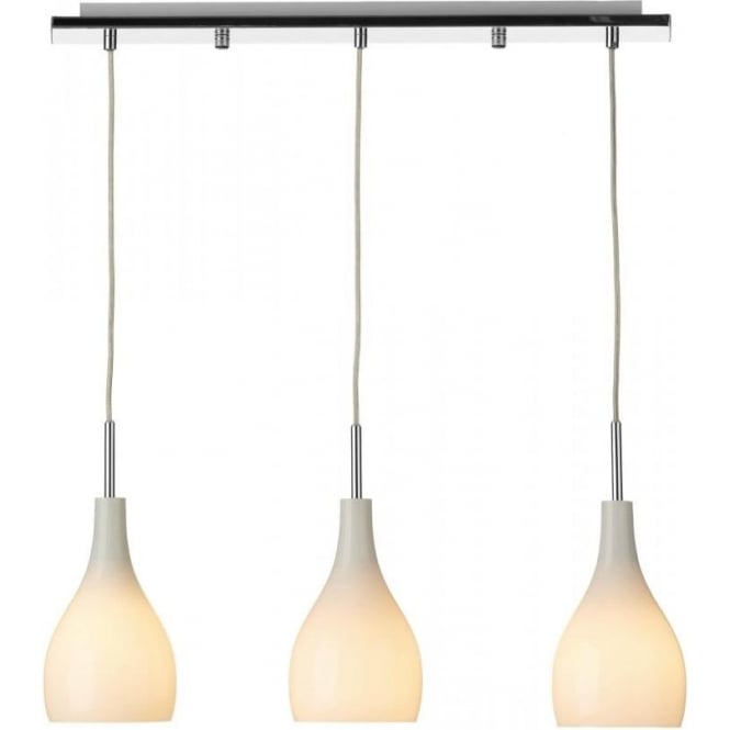 Dar Lighting SOH032 Soho Mini 3 Light Opal Glass Pendant