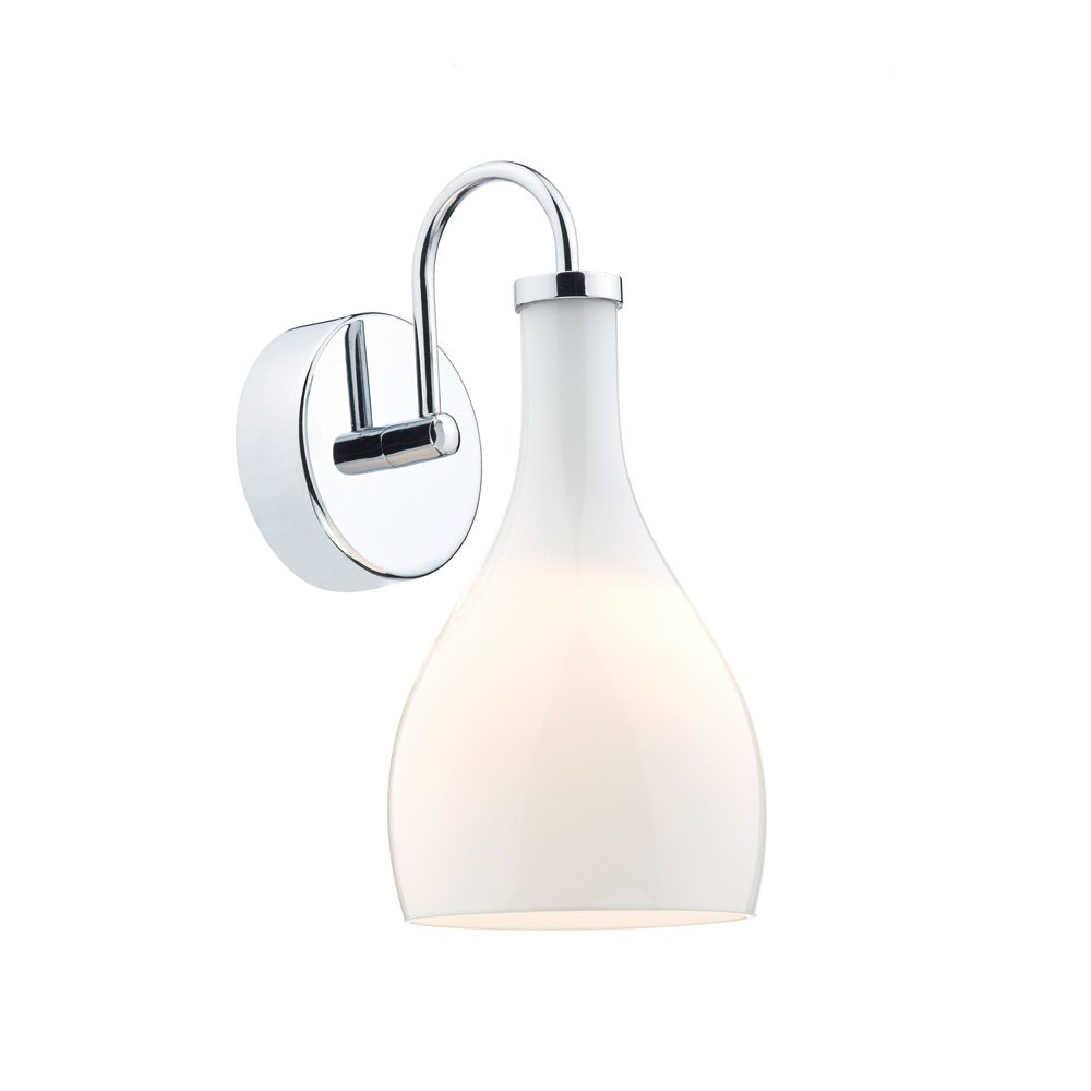 Chrome Wall Light With White Shade : Dar Lighting Soho Chrome Wall Light With White Shade SOH072 - Dar Lighting from The Home ...