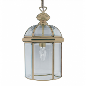 Solid Antique Brass 1 Light Lantern - 7131AB