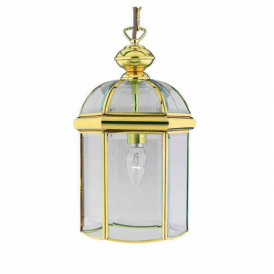 Solid Polished Brass 1 Light Lantern - 5131PB