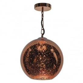Speckle 1 Light Copper Finished Glass Ceiling Pendant light SPE0164