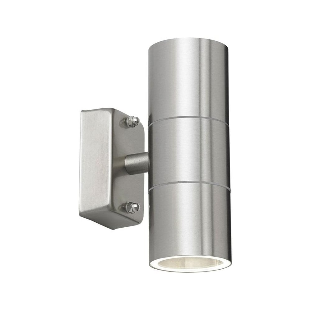 Double Metal Wall Lights : Endon Stainless Steel Double Outdoor Wall Light IP44 Up/Down Outdoor Wall Light - Lighting from ...