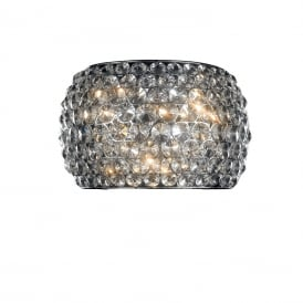 Star 3 Light Crystal Wall Light In Polished Chrome Finish MB103203-3BCHR/CLR