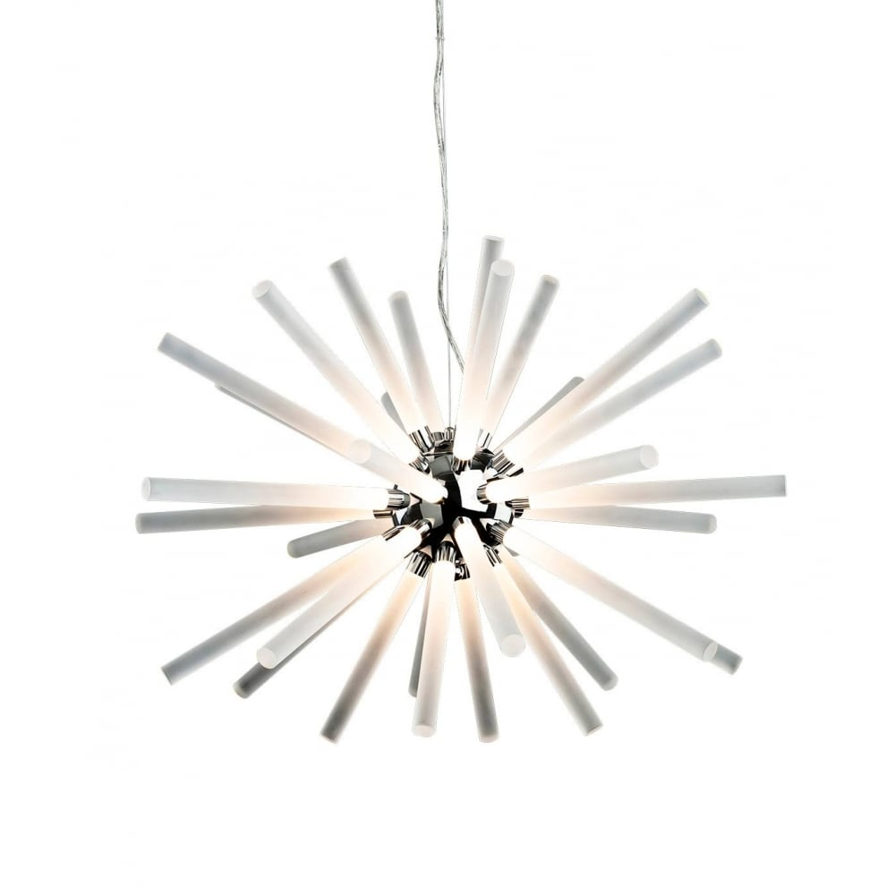 Starburst led modern ceiling pendant light with frosted acrylic shades 4882