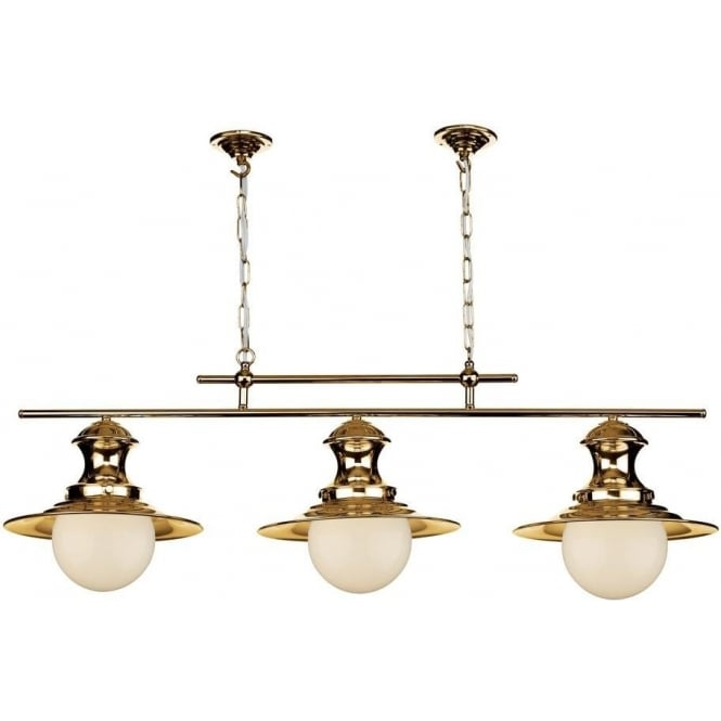 David Hunt Lighting Station 3 Light Bar Traditional Kitchen Ceiling Light in Copper Finish EP0364