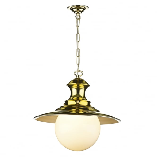 David Hunt Lighting Station Traditional Ceiling Pendant Light In Brass Finish EP40