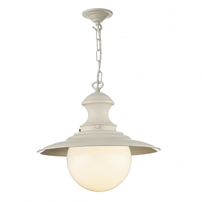 David Hunt Lighting Station Traditional Ceiling Pendant Light In Cotswold Cream Finish EP33