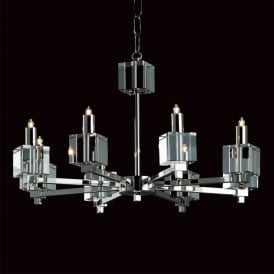 STH06000/4 Starlight Cube 4 Light Glass Chandelier