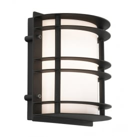 Stockholm Outdoor Flush Lantern In Black Finish With Frosted Glass ST/FLU E27 BLK O