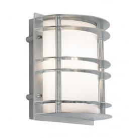 Stockholm Outdoor Flush Lantern In Galvanised Finish With Frosted Glass ST/FLU E27 GAL O