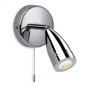 Storm LED Bathroom Single Wall Spotlight In Chrome Finish 8381