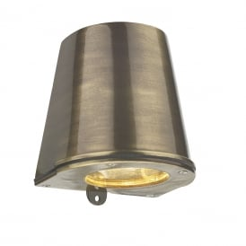 Strait Contemporary LED Outdoor Wall Light In Antique Brass Finish IP44 STR1575