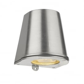 Strait Contemporary LED Outdoor Wall Light In Nickel Finish IP44 STR1538