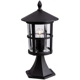 Stratford Outdoor Pillar Lantern In Black Finish 2357BL