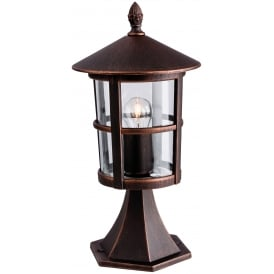 Stratford Outdoor Pillar Lantern In Bronze Finish 2357BZ