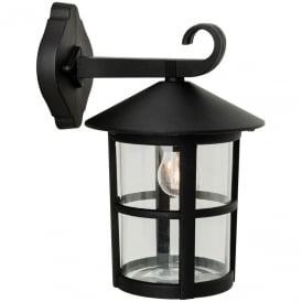 Stratford Outdoor Wall Downlight Lantern In Black Finish 2356BL