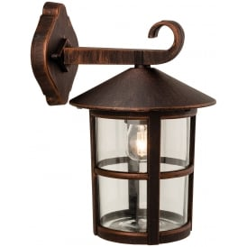 Stratford Outdoor Wall Downlight Lantern In Bronze Finish 2356BZ