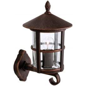 Stratford Outdoor Wall Uplight Lantern In Bronze Finish 2355BR