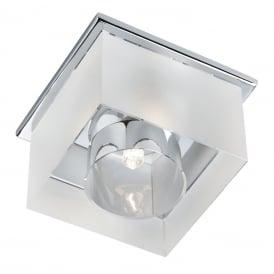 Surface Flush Downlighter With Frosted Ice Cube Glass 8050R-1CC