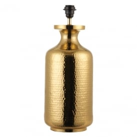 Suri Stylish Hammered Table Lamp Base In Brass Finish 70440