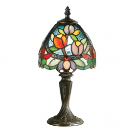 Sylvette Classic Tiffany Mini Table Lamp With Coloured Shade 64331
