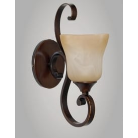 Sylvie Classic Single Wall Light In Bronze Finish PG311211/WB/BRZ/BLK