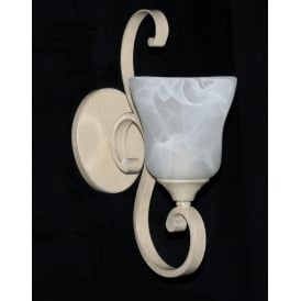 Sylvie Classic Single Wall Light In Cream Finish PG311211/WB/CRM