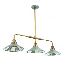 Tabyas Three Light Ceiling Pendant In Antique Zinc Finish 73128