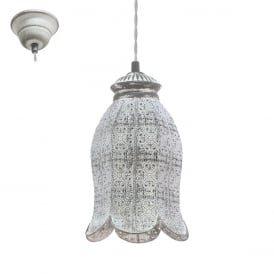 Talbot 1 Decorative Ceiling Pendant Light In Patina Grey Finish 49207