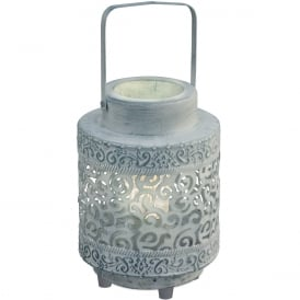 Talbot Decorative Table Lantern In Grey Finish 49275