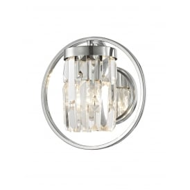 Talin Crystal Single Wall Light In Chrome Finish CF1703/01/WB/CH