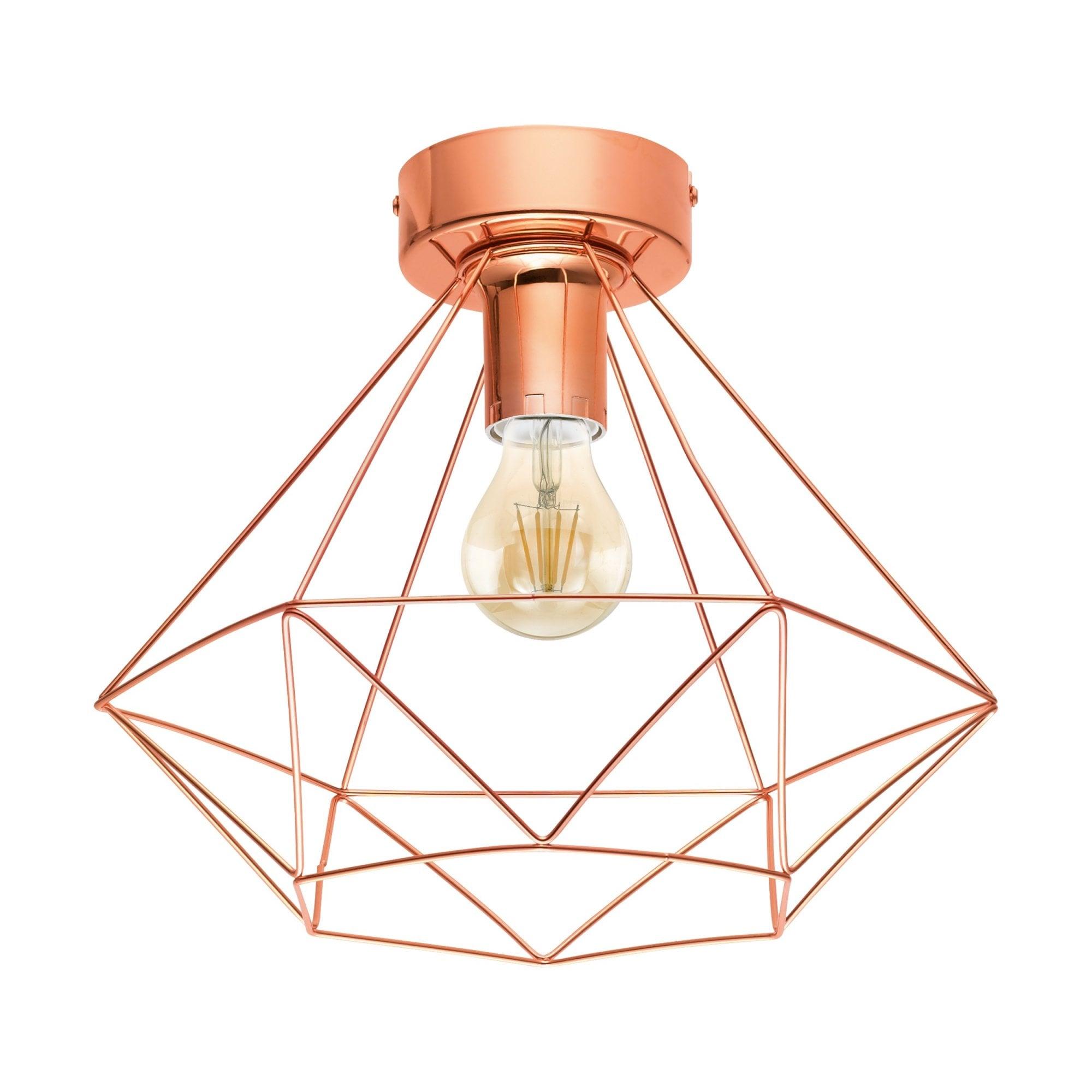 Picture of: Tarbes Semi Flush Ceiling Light In Copper Finish 43005 Lighting From The Home Lighting Centre Uk