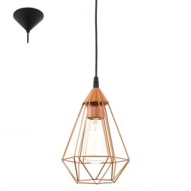 Tarbes Vintage Ceiling Pendant Light In Copper Finish 94193