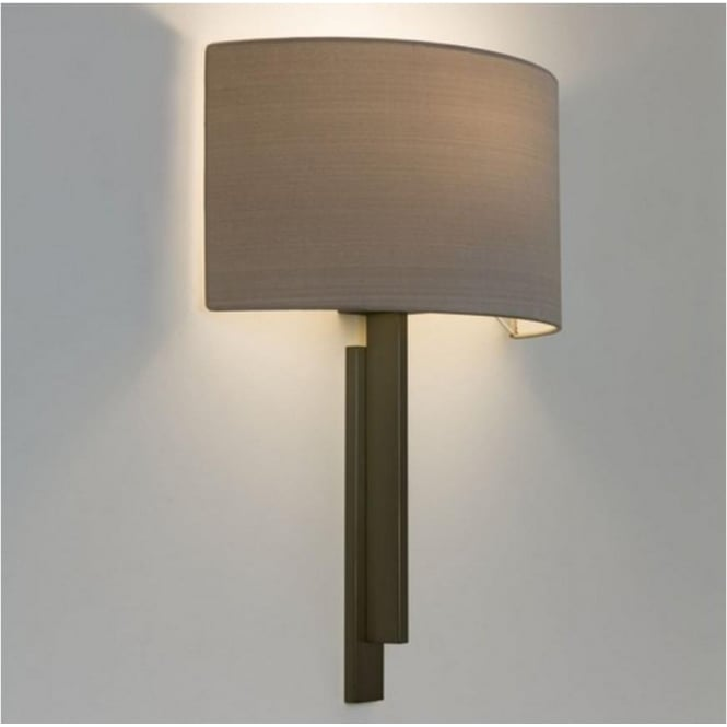 Astro Lighting Tate Contemporary Wall Light in Bronze with Oyster Shade 7253 + 4137