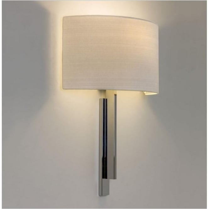 Astro Lighting Tate Contemporary Wall Light in Chrome with White Shade 7254 + 4135
